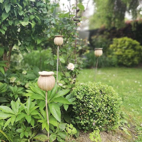 Sculptures décoratives en céramique pour le jardin par Myriem Verhille céramiste