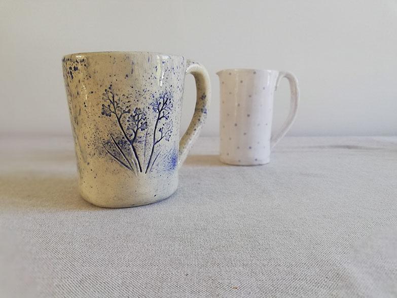 Mug en céramique réalisé lors d'un atelier initiation chez Myriem Verhille céramiste