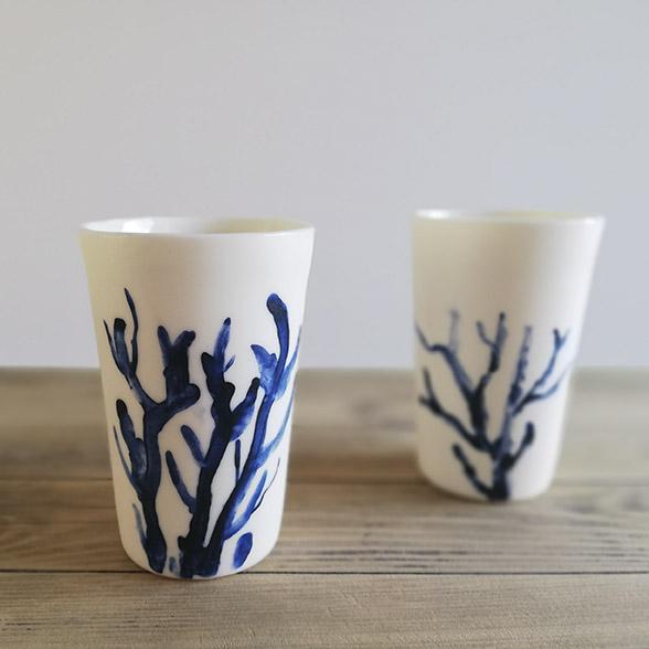 Gobelets en céramique collection Belle Ile de Myriem Verhille Céramiste